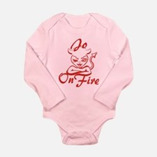 Jo On Fire Long Sleeve Infant Bodysuit