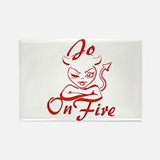 Jo On Fire Rectangle Magnet