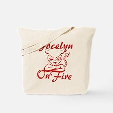 Jocelyn On Fire Tote Bag
