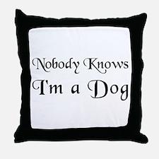 The Barking Throw Pillow