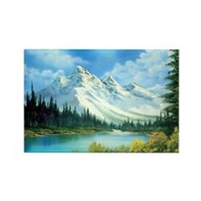 Mountain Spring Landscape Rectangle Magnet