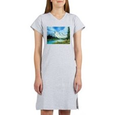 Mountain Spring Landscape Women's Nightshirt