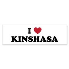 I Love Kinshasa Bumper Sticker