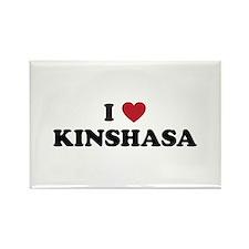 I Love Kinshasa Rectangle Magnet