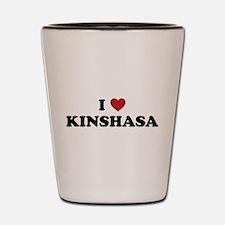 I Love Kinshasa Shot Glass