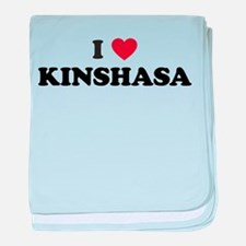 I Love Kinshasa baby blanket