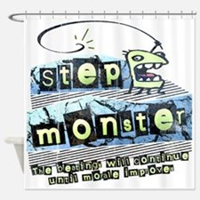 Step Monster Shower Curtain