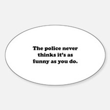 The Police Sticker (Oval)