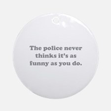 The Police Ornament (Round)
