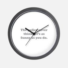 The Police Wall Clock