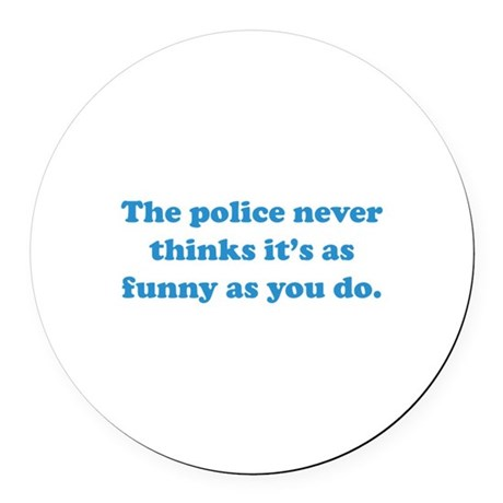 The Police Round Car Magnet