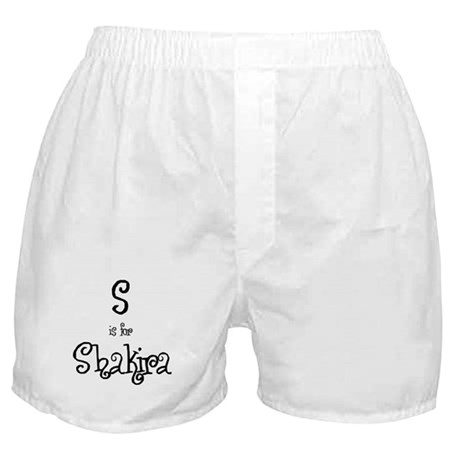 S Is For Shakira Boxer Shorts