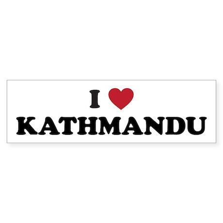 I Love Kathmandu Sticker (Bumper)