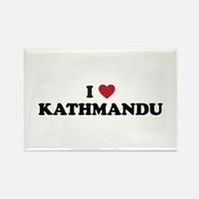 I Love Kathmandu Rectangle Magnet