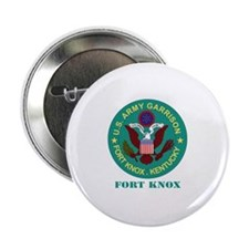 """Fort Knox with Text 2.25"""" Button"""