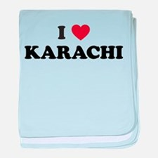 I Love Karachi baby blanket