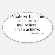 Napoleon Hill Quote Sticker (Oval)