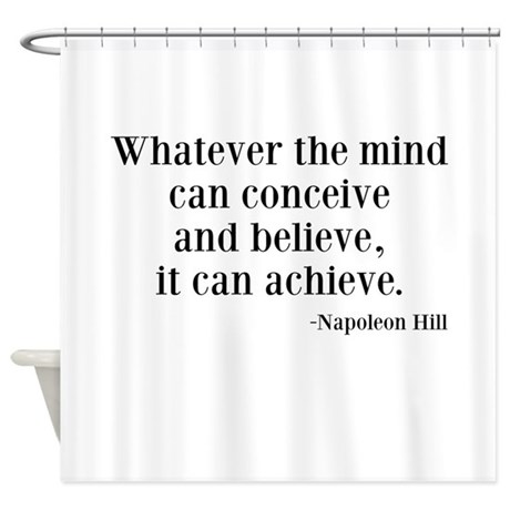 Napoleon Hill Quote Shower Curtain By Beachbumming