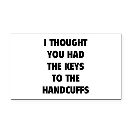 Keys to the handcuffs Rectangle Car Magnet