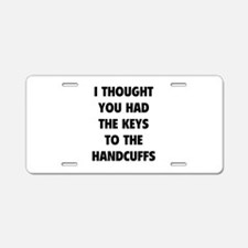 Keys to the handcuffs Aluminum License Plate