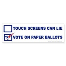 Vote On Paper Ballots Bumper Bumper Sticker