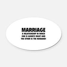 Marriage Oval Car Magnet