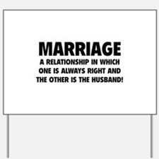 Marriage Yard Sign
