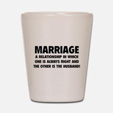 Marriage Shot Glass