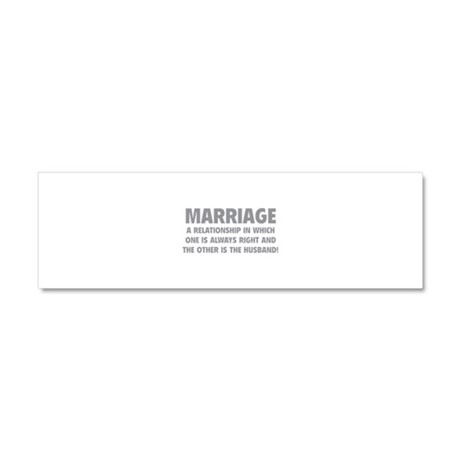 Marriage Car Magnet 10 x 3