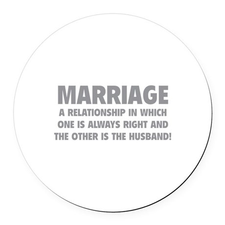 Marriage Round Car Magnet