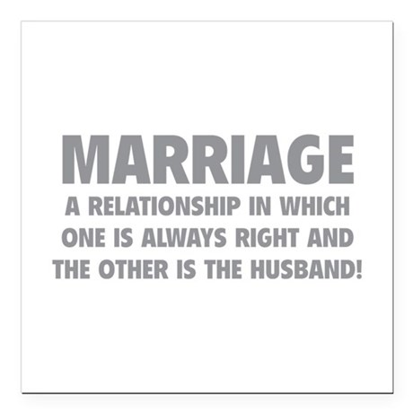 """Marriage Square Car Magnet 3"""" x 3"""""""