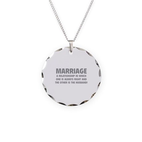 Marriage Necklace Circle Charm