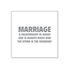 """Marriage Square Sticker 3"""" x 3"""""""
