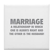 Marriage Tile Coaster