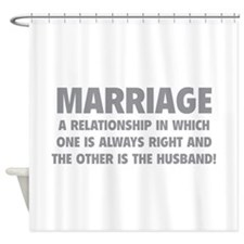Marriage Shower Curtain
