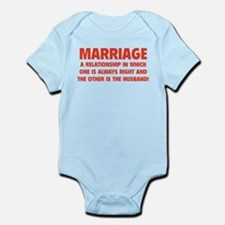 Marriage Infant Bodysuit