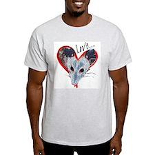 Possum Love Ash Grey T-Shirt