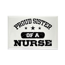 Proud Sister of a Nurse Rectangle Magnet