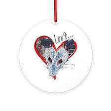 Possum Love Ornament (Round)