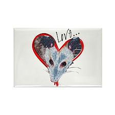 Possum Love Rectangle Magnet