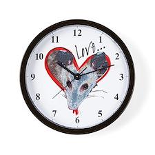 Possum Love Wall Clock