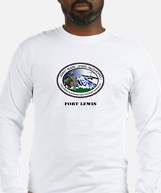 Fort Lewis with Text Long Sleeve T-Shirt