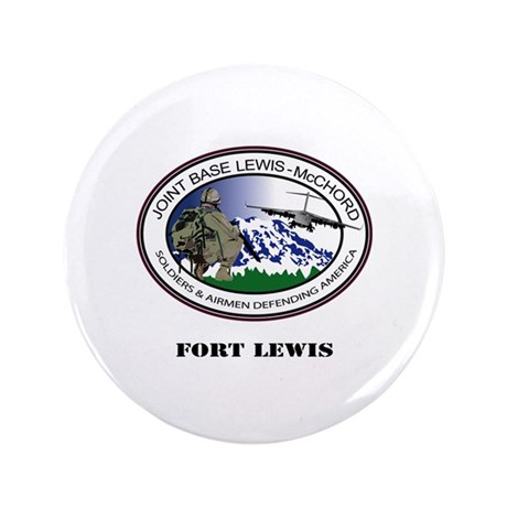 "Fort Lewis with Text 3.5"" Button"