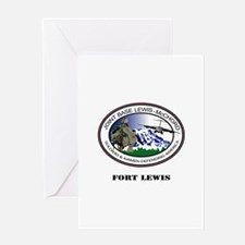 Fort Lewis with Text Greeting Card