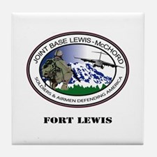 Fort Lewis with Text Tile Coaster