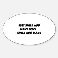 Smile and Wave Sticker (Oval 10 pk)