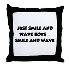 Smile and Wave Throw Pillow