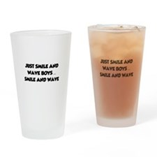 Smile and Wave Drinking Glass