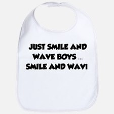 Smile and Wave Bib