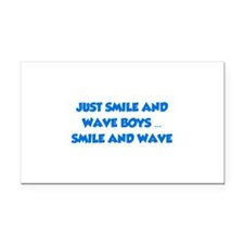 Smile and Wave Rectangle Car Magnet
